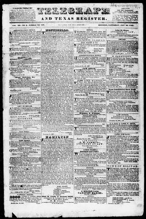 Telegraph and Texas Register (Houston, Tex.), Vol. 3, No. 6, Ed. 1, Saturday, January 20, 1838