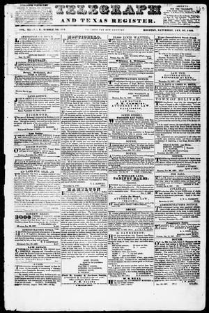 Telegraph and Texas Register (Houston, Tex.), Vol. 3, No. 7, Ed. 1, Saturday, January 27, 1838