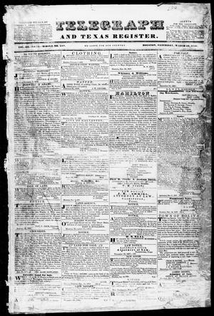 Telegraph and Texas Register (Houston, Tex.), Vol. 3, No. 13, Ed. 1, Saturday, March 10, 1838