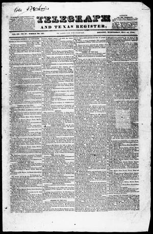 Primary view of Telegraph and Texas Register (Houston, Tex.), Vol. 3, No. 27, Ed. 1, Wednesday, May 16, 1838