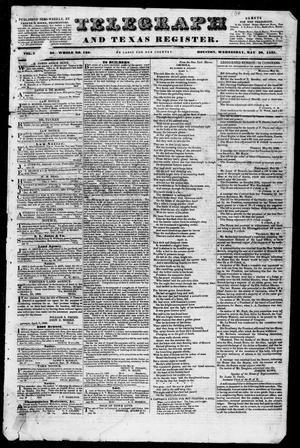 Primary view of object titled 'Telegraph and Texas Register (Houston, Tex.), Vol. 3, No. 30, Ed. 1, Wednesday, May 30, 1838'.