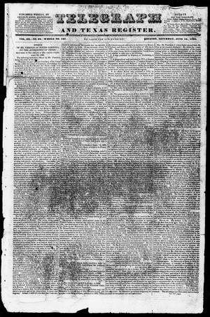Newspaper: Telegraph and Texas Register (Houston, Tex.), Vol. 3, No. 33, Ed. 1, …