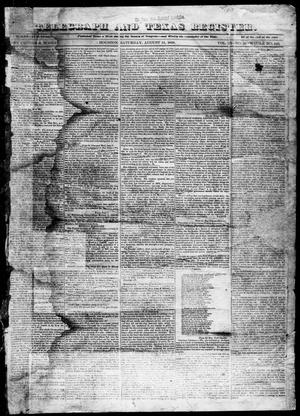 Primary view of Telegraph and Texas Register (Houston, Tex.), Vol. 3, No. 50, Ed. 1, Saturday, August 11, 1838