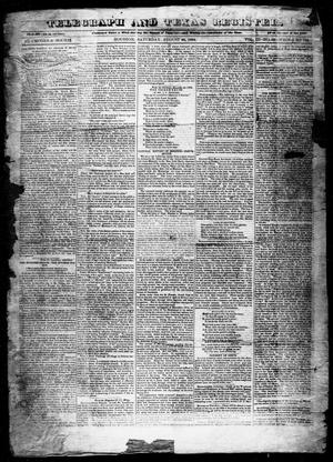 Primary view of object titled 'Telegraph and Texas Register (Houston, Tex.), Vol. 3, No. 52, Ed. 1, Saturday, August 25, 1838'.