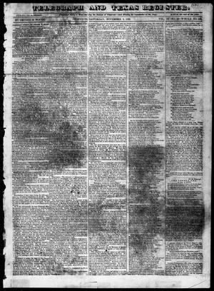 Primary view of Telegraph and Texas Register (Houston, Tex.), Vol. 4, No. 10, Ed. 1, Saturday, November 3, 1838