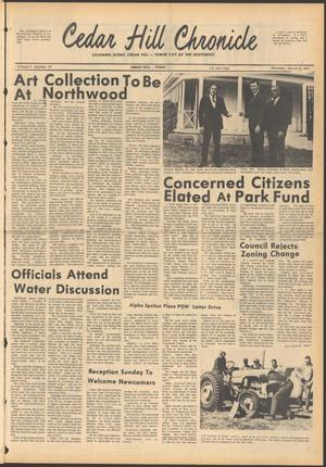 Primary view of object titled 'Cedar Hill Chronicle (Cedar Hill, Tex.), Vol. 6, No. 30, Ed. 1 Thursday, March 11, 1971'.