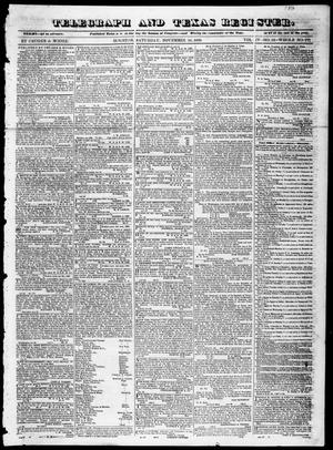 Primary view of object titled 'Telegraph and Texas Register (Houston, Tex.), Vol. 4, No. 15, Ed. 1, Saturday, November 24, 1838'.