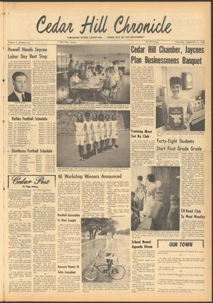 Primary view of object titled 'Cedar Hill Chronicle (Cedar Hill, Tex.), Vol. 4, No. 16, Ed. 1 Thursday, September 5, 1968'.