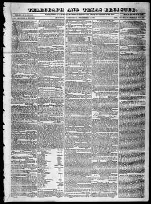 Primary view of object titled 'Telegraph and Texas Register (Houston, Tex.), Vol. 4, No. 17, Ed. 1, Saturday, December 1, 1838'.