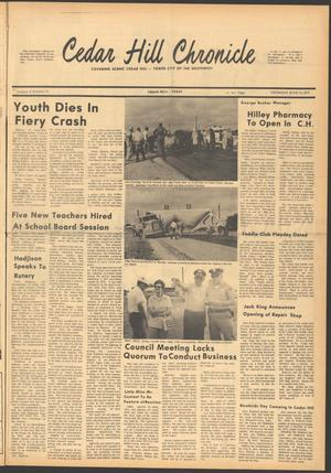 Primary view of object titled 'Cedar Hill Chronicle (Cedar Hill, Tex.), Vol. 6, No. 41, Ed. 1 Thursday, June 10, 1971'.