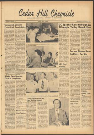 Primary view of object titled 'Cedar Hill Chronicle (Cedar Hill, Tex.), Vol. 6, No. 12, Ed. 1 Thursday, October 8, 1970'.