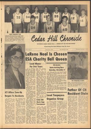 Primary view of object titled 'Cedar Hill Chronicle (Cedar Hill, Tex.), Vol. 9, No. 15, Ed. 1 Thursday, December 6, 1973'.