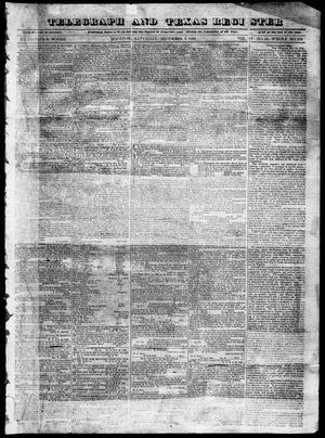 Primary view of object titled 'Telegraph and Texas Register (Houston, Tex.), Vol. 4, No. 18, Ed. 1, Saturday, December 8, 1838'.