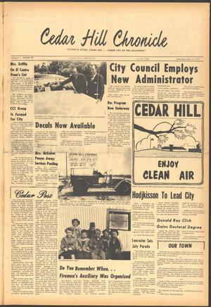 Primary view of object titled 'Cedar Hill Chronicle (Cedar Hill, Tex.), Vol. 5, No. 48, Ed. 1 Thursday, June 11, 1970'.