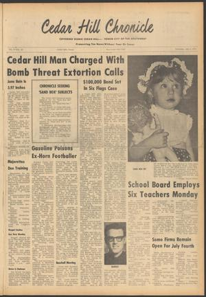 Primary view of object titled 'Cedar Hill Chronicle (Cedar Hill, Tex.), Vol. 9, No. 45, Ed. 1 Thursday, July 4, 1974'.