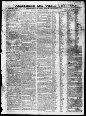 Primary view of object titled 'Telegraph and Texas Register (Houston, Tex.), Vol. 4, No. 26, Ed. 1, Saturday, January 5, 1839'.