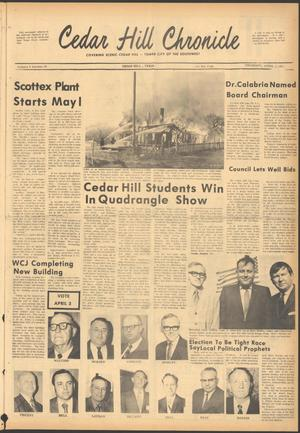 Primary view of object titled 'Cedar Hill Chronicle (Cedar Hill, Tex.), Vol. 6, No. 33, Ed. 1 Thursday, April 1, 1971'.