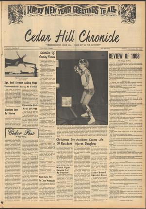 Primary view of object titled 'Cedar Hill Chronicle (Cedar Hill, Tex.), Vol. 4, No. 32, Ed. 1 Tuesday, December 31, 1968'.