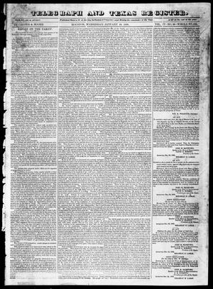 Primary view of object titled 'Telegraph and Texas Register (Houston, Tex.), Vol. 4, No. 29, Ed. 1, Wednesday, January 16, 1839'.