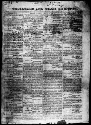 Primary view of object titled 'Telegraph and Texas Register (Houston, Tex.), Vol. 4, No. 30, Ed. 1, Saturday, January 19, 1839'.