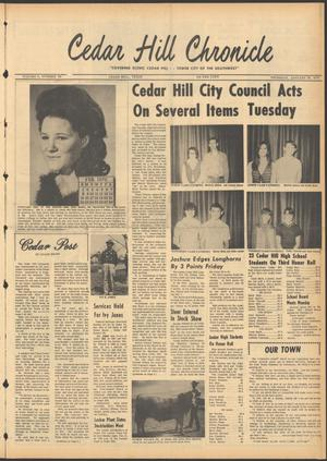 Primary view of object titled 'Cedar Hill Chronicle (Cedar Hill, Tex.), Vol. 5, No. 32, Ed. 1 Thursday, January 29, 1970'.