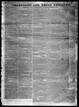 Primary view of object titled 'Telegraph and Texas Register (Houston, Tex.), Vol. 4, No. 31, Ed. 1, Wednesday, January 23, 1839'.