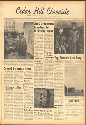 Primary view of object titled 'Cedar Hill Chronicle (Cedar Hill, Tex.), Vol. 5, No. 46, Ed. 1 Thursday, May 28, 1970'.