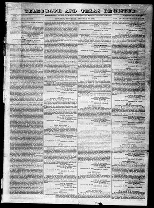 Primary view of object titled 'Telegraph and Texas Register (Houston, Tex.), Vol. 4, No. 32, Ed. 1, Saturday, January 26, 1839'.