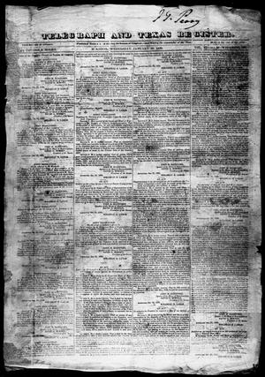 Telegraph and Texas Register (Houston, Tex.), Vol. 4, No. 33, Ed. 1, Wednesday, January 30, 1839