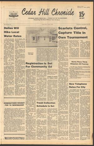 Primary view of object titled 'Cedar Hill Chronicle (Cedar Hill, Tex.), Vol. 13, No. 18, Ed. 1 Thursday, December 23, 1976'.