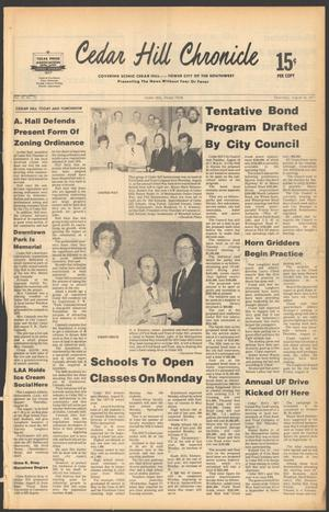 Primary view of object titled 'Cedar Hill Chronicle (Cedar Hill, Tex.), Vol. 13, No. 52, Ed. 1 Thursday, August 18, 1977'.