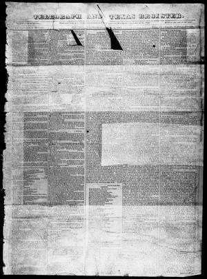 Primary view of Telegraph and Texas Register (Houston, Tex.), Vol. 4, No. 42, Ed. 1, Saturday, April 6, 1839