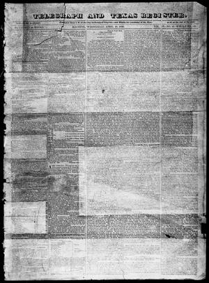 Primary view of Telegraph and Texas Register (Houston, Tex.), Vol. 4, No. 43, Ed. 1, Wednesday, April 10, 1839