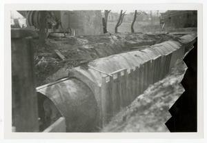Primary view of object titled '[Photograph of Drainage Pipe Construction]'.