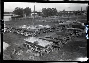 Primary view of object titled '[Photograph of Wagons]'.