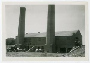 Primary view of object titled '[Photograph of Incinerator]'.