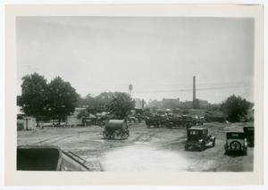 Primary view of object titled '[Photograph of a Freight Yard]'.