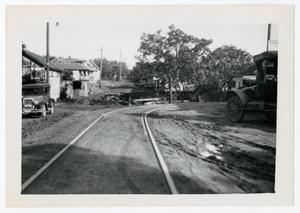 Primary view of object titled '[Photograph of Railroad Tracks]'.