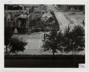 Primary view of object titled '[Photograph of Construction on Austin Street in Dallas]'.