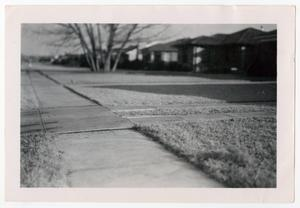 Primary view of object titled '[Photograph of Sidewalks and Lawns on Marquette Street]'.