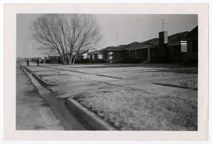 Primary view of object titled '[Photograph of Houses on Marquette Street]'.