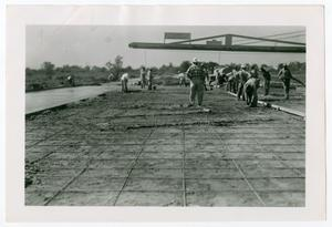 Primary view of object titled '[Photograph of Street Paving Preparations]'.