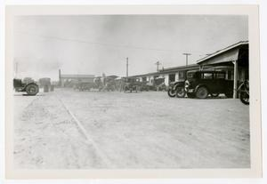 Primary view of object titled '[Photograph of Cars and Wagons]'.