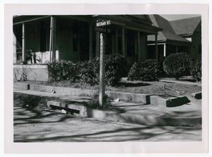 Primary view of object titled '[Photograph of Seegar and Browder Streets]'.