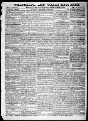 Primary view of Telegraph and Texas Register (Houston, Tex.), Vol. 5, No. 4, Ed. 1, Wednesday, July 10, 1839