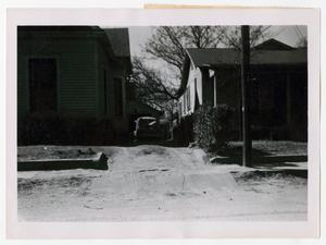 Primary view of object titled '[Photograph of Houses on Browder Street]'.