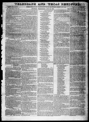 Primary view of object titled 'Telegraph and Texas Register (Houston, Tex.), Vol. 5, No. 6, Ed. 1, Wednesday, July 24, 1839'.