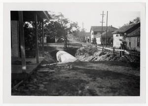 Primary view of object titled '[Photograph of a Drainage Pipe]'.