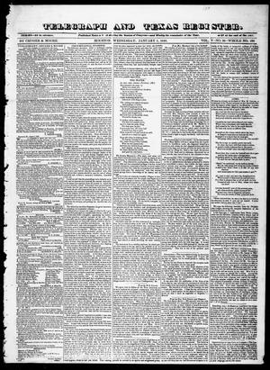 Primary view of object titled 'Telegraph and Texas Register (Houston, Tex.), Vol. 5, No. 26, Ed. 1, Wednesday, January 1, 1840'.