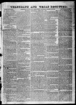 Telegraph and Texas Register (Houston, Tex.), Vol. 5, No. 28, Ed. 1, Wednesday, February 5, 1840